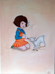 shelley haswell girl and lamb