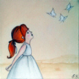 shelley haswell girl and butterflies