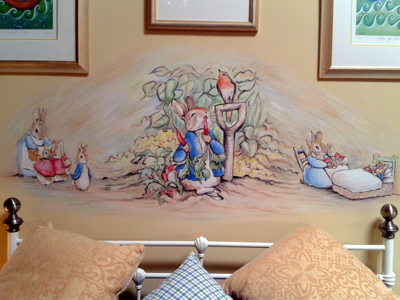 Dreamworld creations wall murals edinburgh mural art for Beatrix potter wall mural