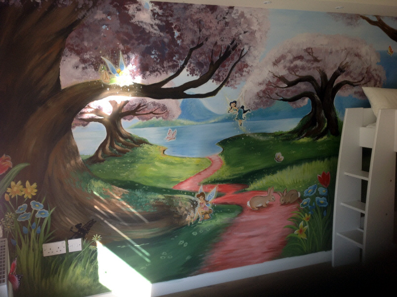 Dreamworld creations wall murals edinburgh mural art for Fairy tale mural