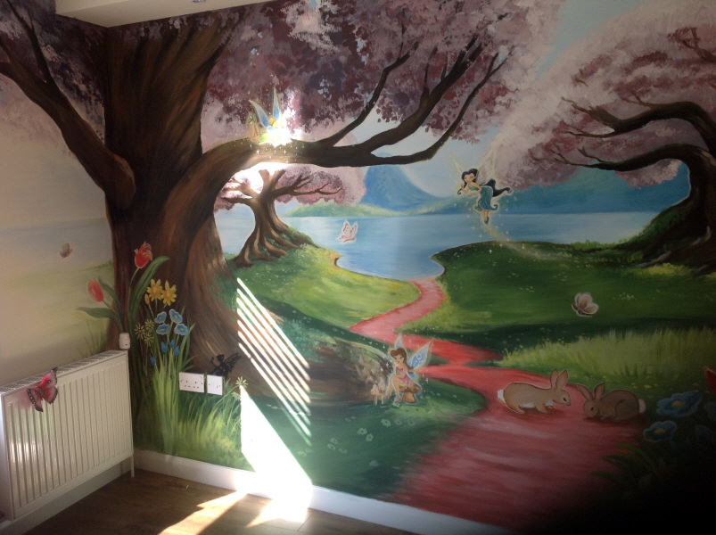 Fairy tale wallpaper murals images for Fairies wall mural