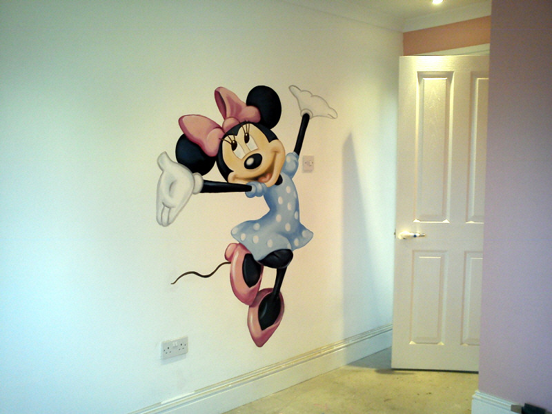 Minnie Mouse Mural ... Part 40