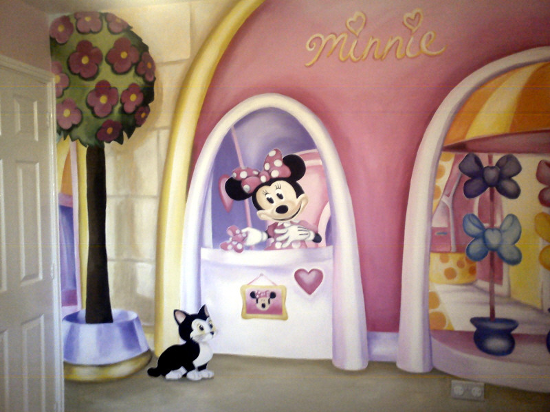 ... Minnie Mouse Mural ... Part 14