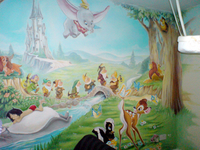 Dreamworld creations wall murals edinburgh mural art for Disney wall mural uk